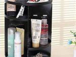 Rotating Makeup Organizer - Adjustable Makeup Stand - Black